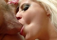 Blonde Jacky Joy likes to slurp on a cock more than anything