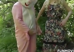 Austrian Teen found a real easter bunny