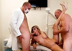 Dentist double teams a slutty patient to her delight