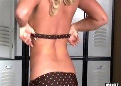 WANKZ- Bree Olson Locker Room Masturbation