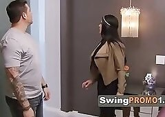 Swinger chick shows her acrobatic talent