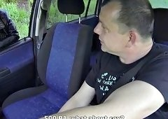 Nasty amateur sluts picked up and fucked in a minibus