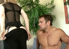 Sexy Nina Hartley fucked by the fit young man