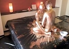 valuable husband watches wife get massive cumshot you for long