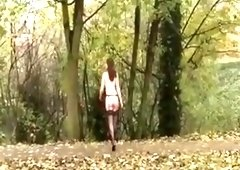 Amazing Homemade video with Outdoor, Stockings scenes