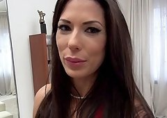 Filming Alexa Tomas giving a hot blowjob in front of a mirror