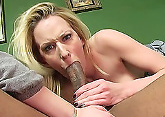 Horny sluts Cherry Poppens and Ruth Blackwell share a big black cock