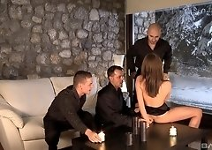 Kristine Crystalis founds herself in a rough foursome with three guys