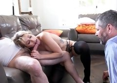 Needy wife tries other than her hubby to fuck her