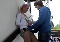 Unearthly female is making dude cum