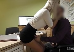 LOAN4K. She wanted money to repair the car, and got a hard fuck