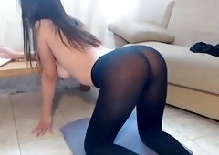 Charming Amateur Brunette Plays With Her Pussy Until She Squirts Hard