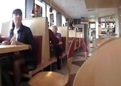 milf public upskirt in restaurant