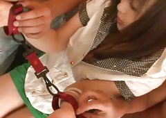 Straight babe Nozomi Uehara is having group fuck