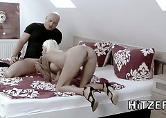 Sophie Logan tight bald pussy fucked