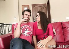 Desirable chick Chanel Preston gets her muff fingered by Manuel Ferrara