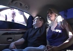Danica Blue goes for a ride in a limo after doing a XXX porno
