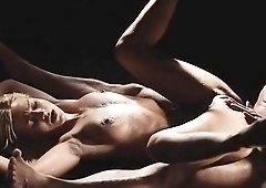 Glamour brunette pornstar babe Henessy erotic pussy fucking