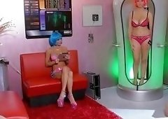 Sexy Space Bots Julia Ann & Jessica Jaymes Scissor!