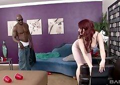Nextdoor BBC fucks naughty red haired hottie Jessica Ryan