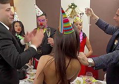 Birthday party turns into a great orgy that no one will ever forget