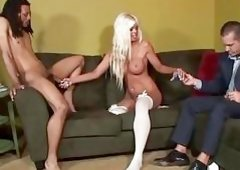 Blonde Bride Jordan Blue Fucks I...