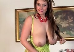 Eva Notty is a busty babe who loves playing with her gaping vagina