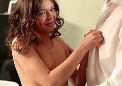 Stunning Mira awarding monster cock with nice blowjob