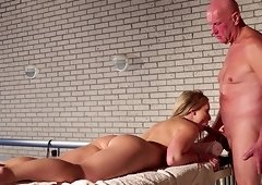 Danielle Soul seduced by a mature man for an incredible fuck