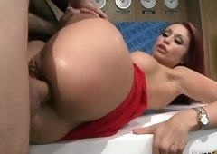 Godlike breasty Monique Alexander is pleased to have a hard anal fucking
