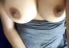 Hot Desi girl Rubbing her pussy and Teasing with her Big Boo
