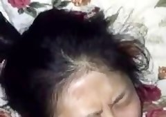 Asian maid mouth fucked