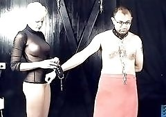 Hardcore bondage with a mistress who hates emasculated mature men