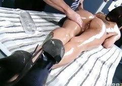 Ambrosial busty Jessica Jaymes is in love with sports