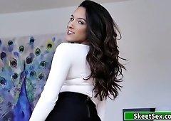 Hot brazilian sucking her boys shaft