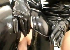 Femdom queens latex domination