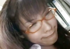 Red glasses nerd Nao Ayukawa confused and just having sex