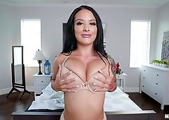 Busty milf loves working a young dick in crazy scenes