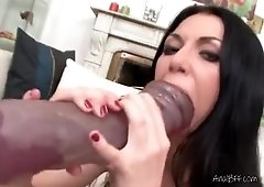 Lascivious Hot Vixen Sits On A Huge Dildo