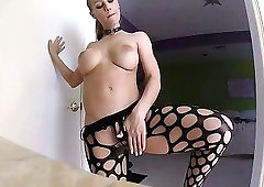 Nicole aniston does hard sex in ripped up fishnet
