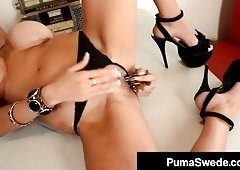 Sex Crazed Euro Babe Puma Swede Pounds Her Pussy In A Diner