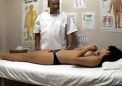 Sweet Japanese babe is made to reach her climax by a masseur