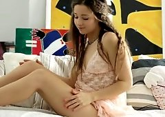 Playful woman does some naughty things with a dildo in this scene