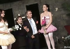 Private wedding party ends up as steamy orgy sex with lusty bride Antonia Deona