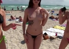 Mind blowing sex tape with girls on vacation