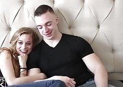 Skinny Blonde Gets Fucked By Irish Muscle Jock
