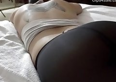 Cumshot on Pantyhose Ass - Carli -