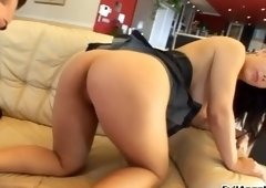 Cute breasty Kristi Klenot is blowing my cock
