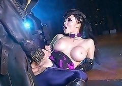 Godlike brunette with big boobs enjoys hardcore sex