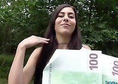 Anya Krey Naughty beautiful tourist humped in woods